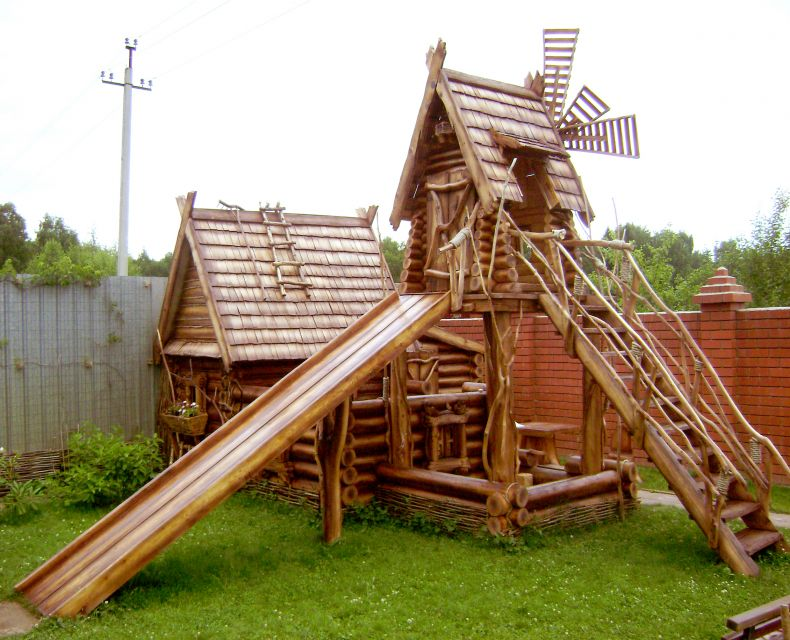 Изделия из дерева для детских площадок своими руками