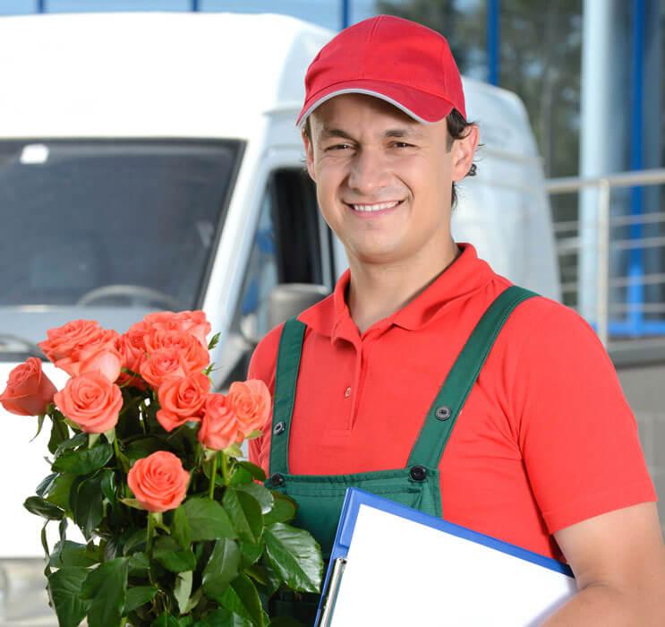 Курьерская доставка цветов по москве и области, роз
