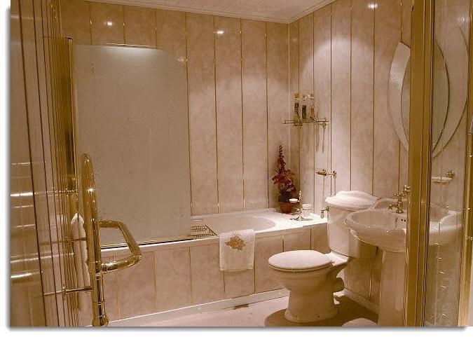 Ванная комната пластиковыми панелями фото