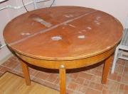 Реставрация раздвижного круглого стола своими руками 95