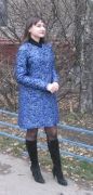 Пальто С Цветочком